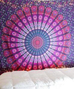Wandbehang Indisches Mandala Violett